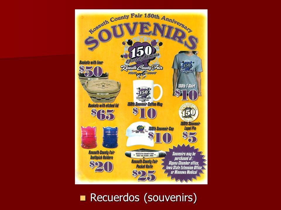 Recuerdos (souvenirs) Recuerdos (souvenirs)