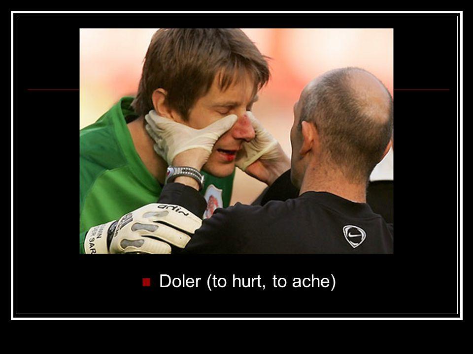 Doler (to hurt, to ache)