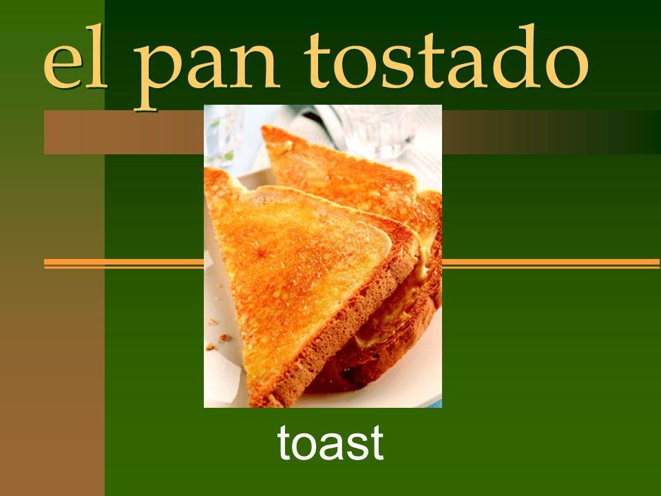el pan tostado toast