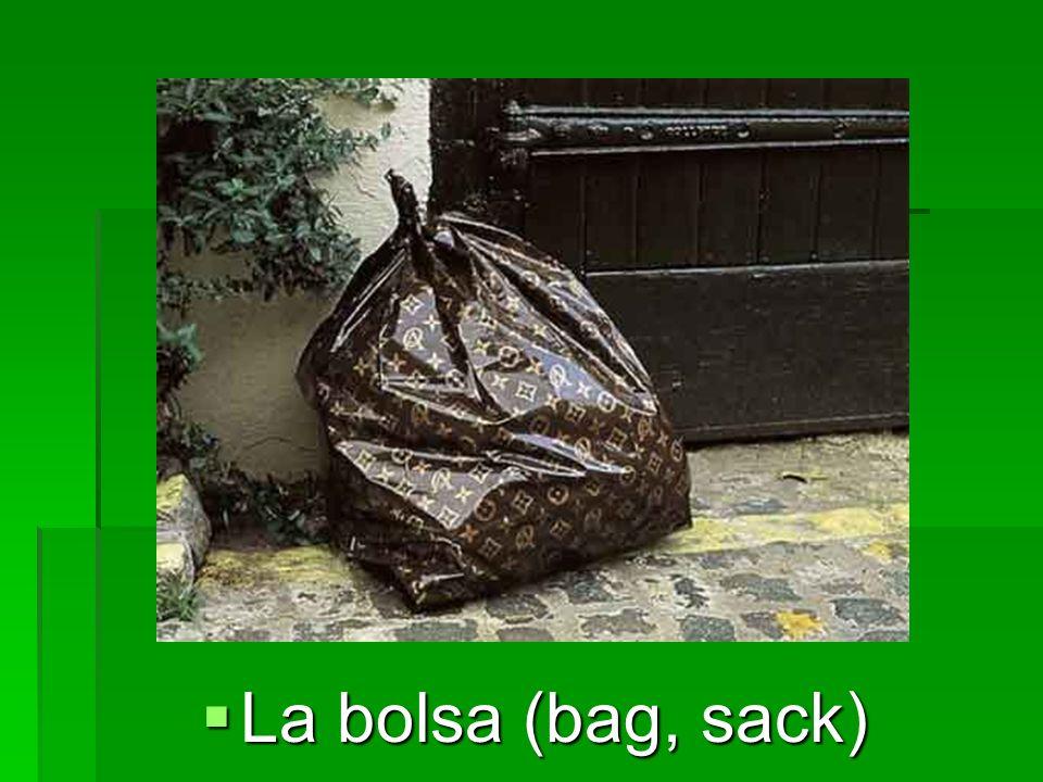 La bolsa (bag, sack) La bolsa (bag, sack)