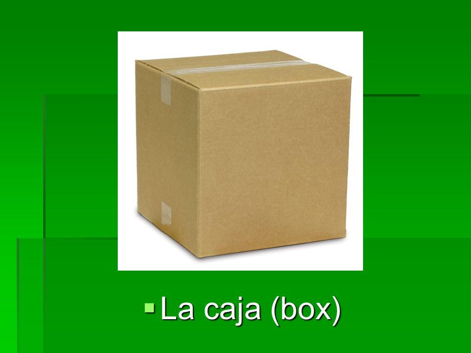 El cartón (cardboard) El cartón (cardboard)