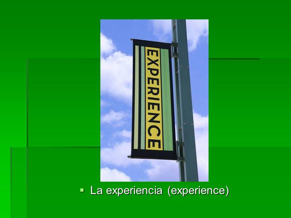 La experiencia (experience) La experiencia (experience)