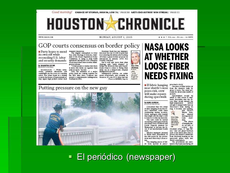 El periódico (newspaper) El periódico (newspaper)
