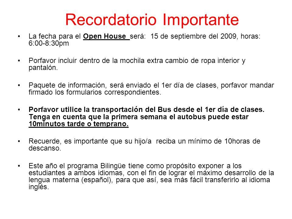 Información de contacto Maestra: Gandara mgandara1@kleinisd.net Teléfono: 832.484 7642