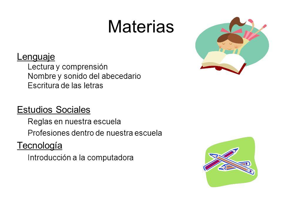 Horario Semanal P.E. & MUSIC: Lunes 12:30 – 1:15 Martes a viernes 1:15 - 2:00 Computer Lab: Lunes9:45 – 10:15 Art: Viernes9:45 – 10:15 Library: Thursd