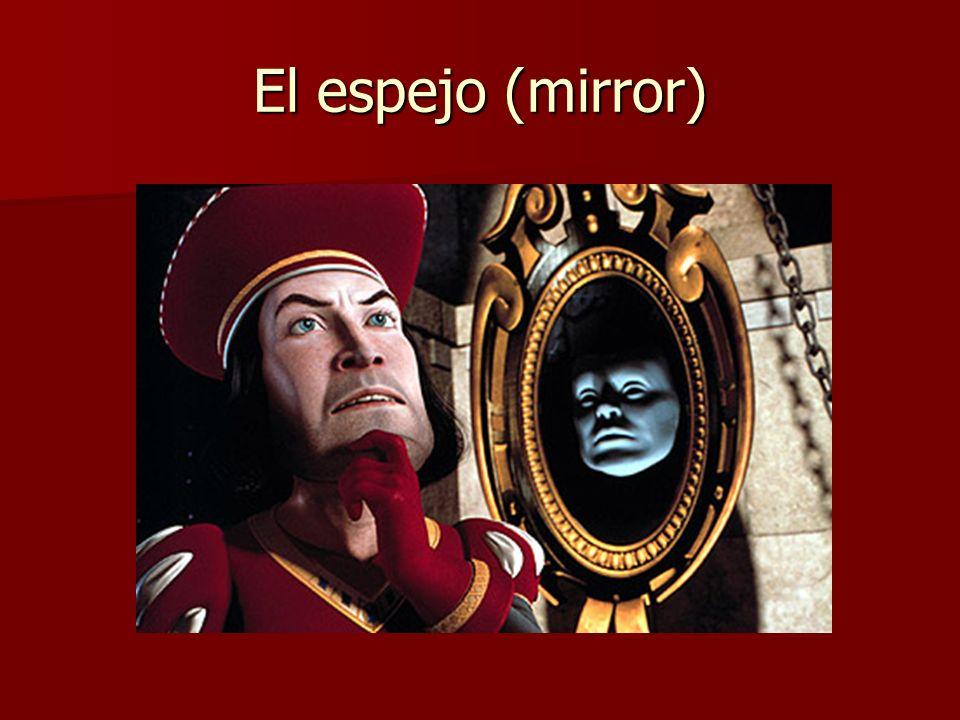A la derecha –de (to the right – of)