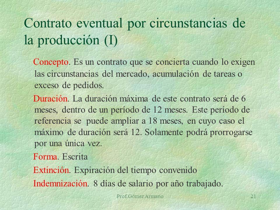 Prof.Gómez Armario20 Contrato por obra o servicio determinado Concepto.