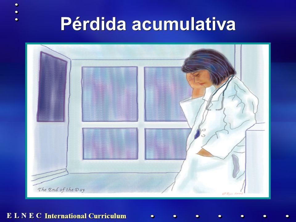 E E N N E E C C L L International Curriculum Pérdida acumulativa
