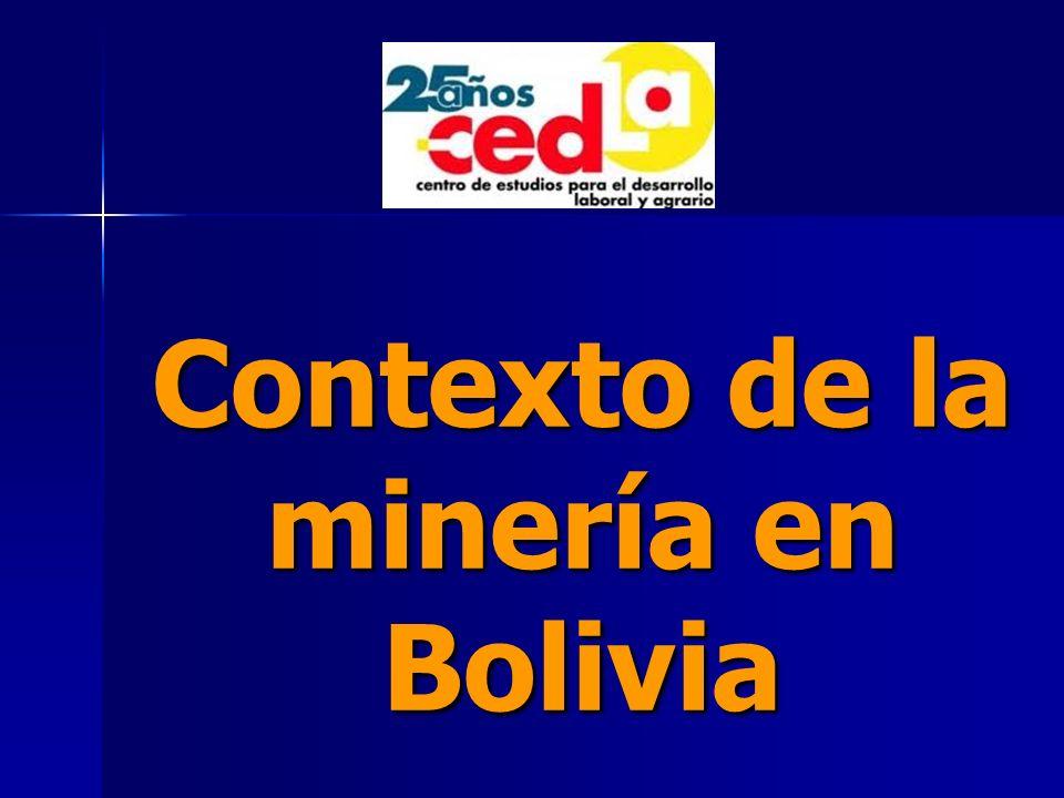 Contexto de la minería en Bolivia