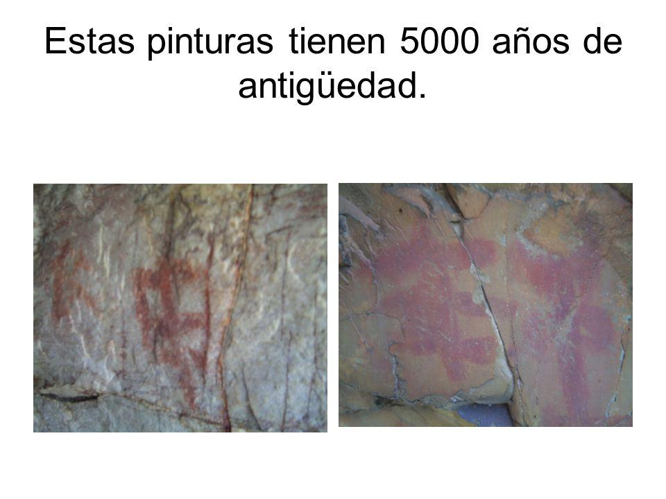 Estas pinturas tienen 5000 años de antigüedad.