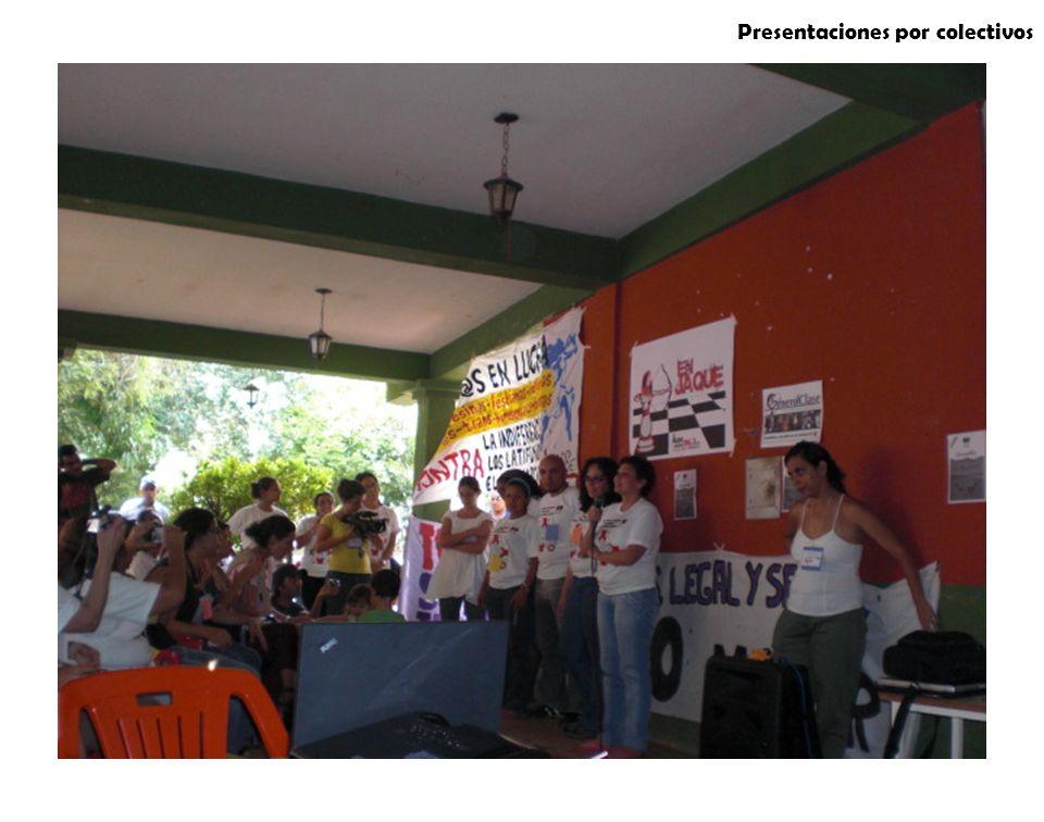 Presentaciones por colectivos