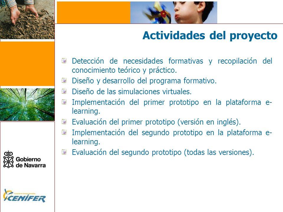 Actividades del proyecto Detección de necesidades formativas y recopilación del conocimiento teórico y práctico.