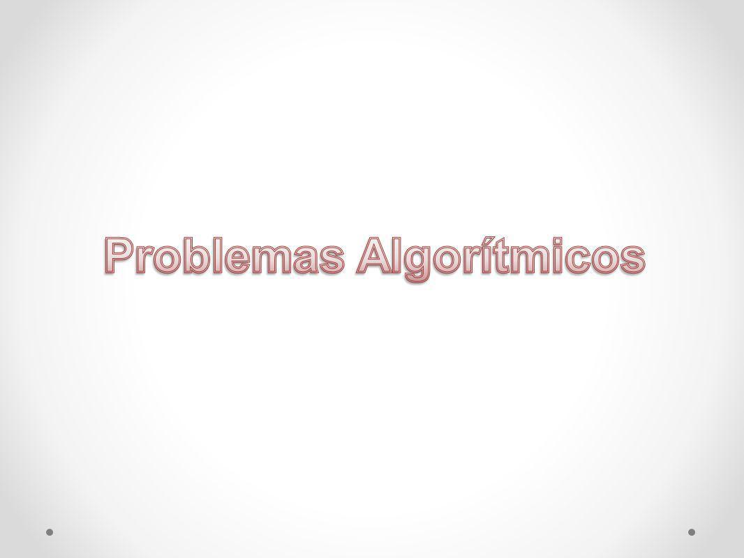 Clasificación de Problemas Algorítmicos Por su Naturaleza Los problemas algorítmicos son clasificados de acuerdo a su naturaleza intrínseca respecto a la posibilidad y dificultad de resolverlos.