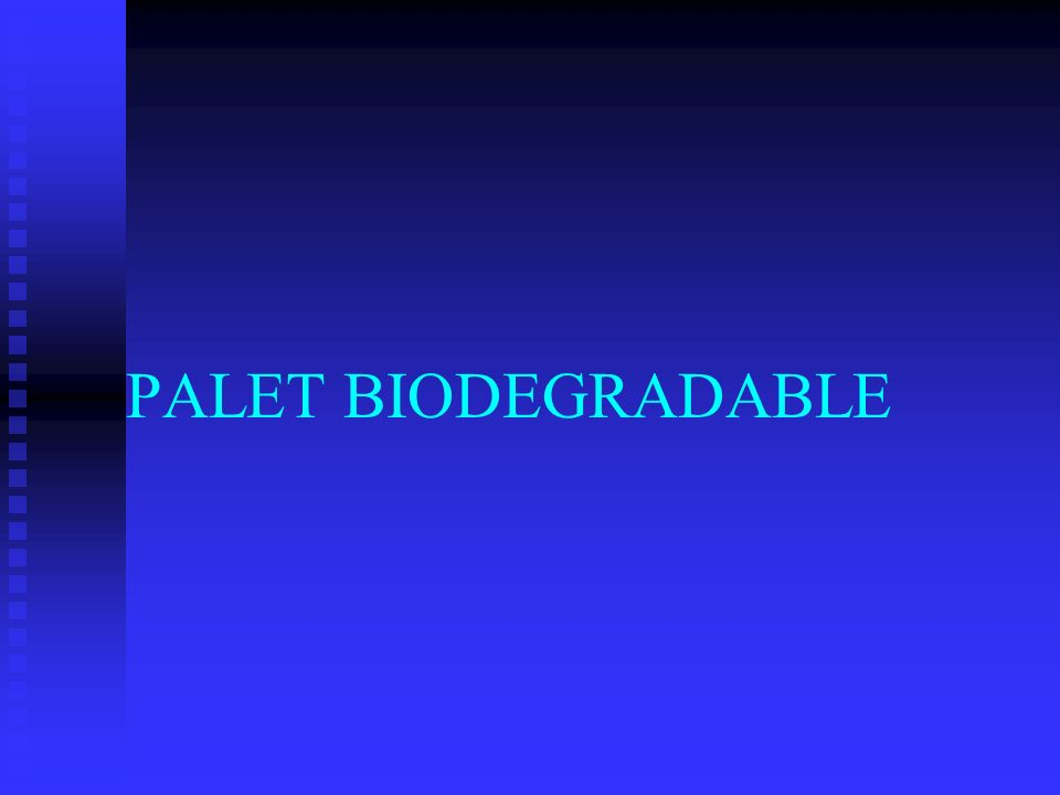 PALET BIODEGRADABLE