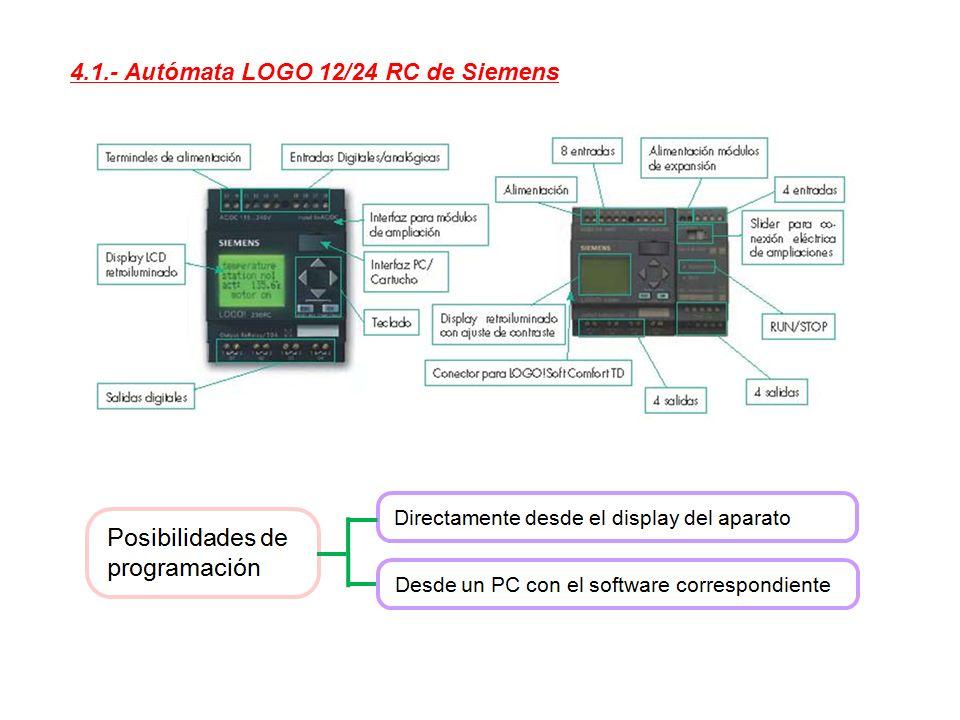 4.1.- Autómata LOGO 12/24 RC de Siemens