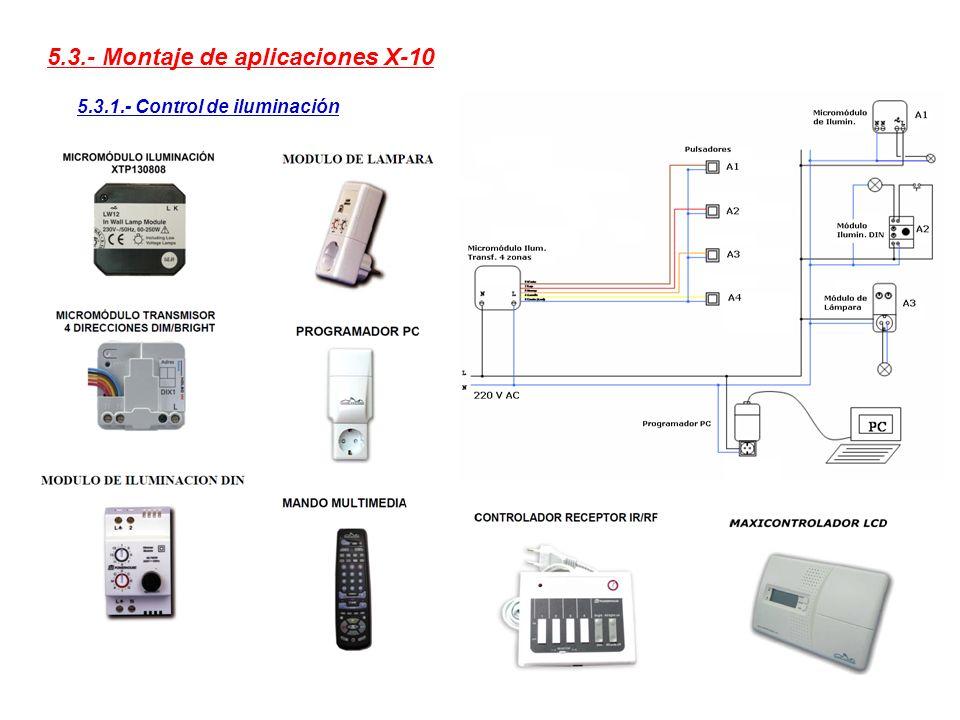 5.3.- Montaje de aplicaciones X-10 5.3.1.- Control de iluminación