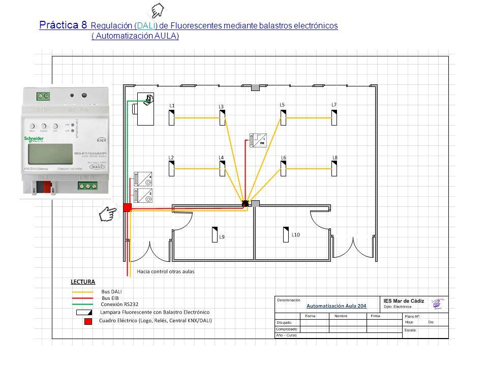 Práctica 8 Regulación (DALI) de Fluorescentes mediante balastros electrónicosDALI ( Automatización AULA)