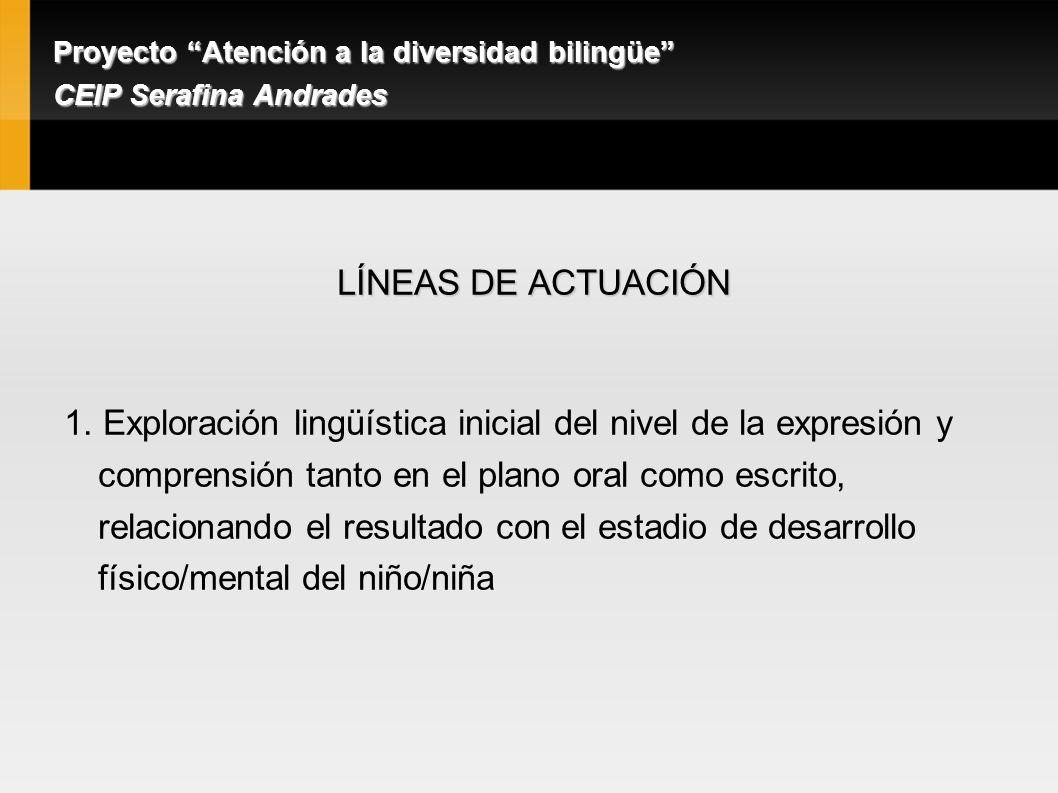 LÍNEAS DE ACTUACIÓN 1.