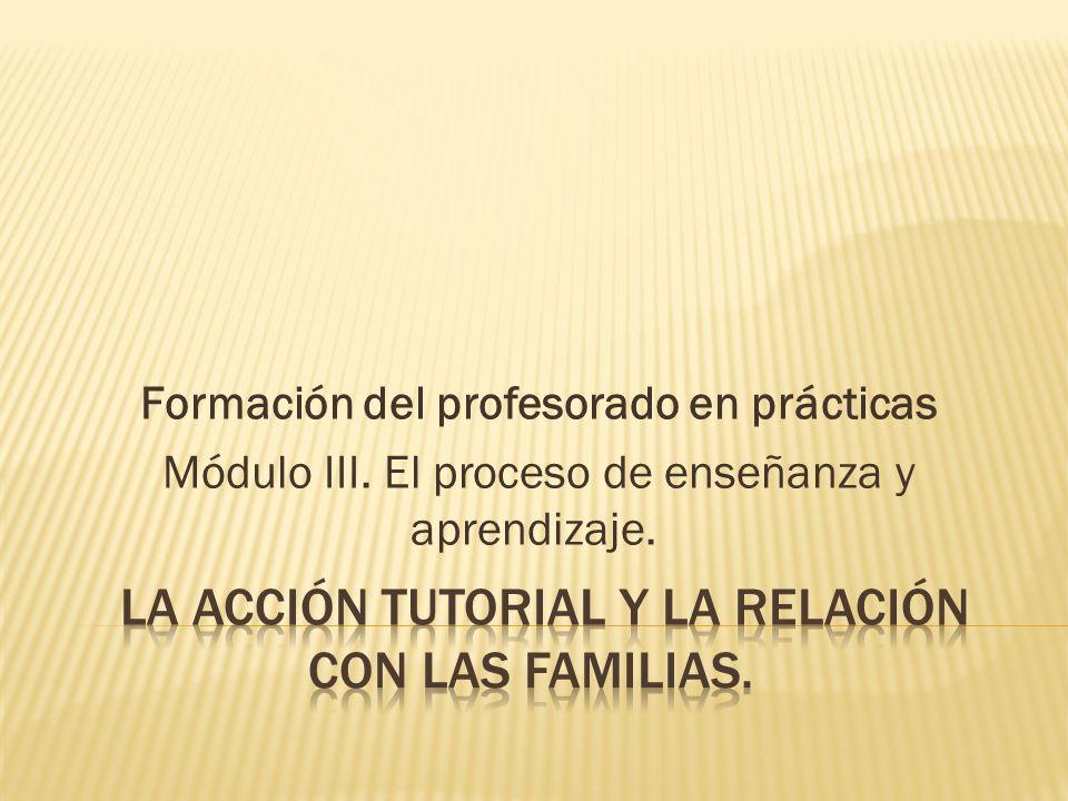 Formación del profesorado en prácticas Módulo III. El proceso de enseñanza y aprendizaje.