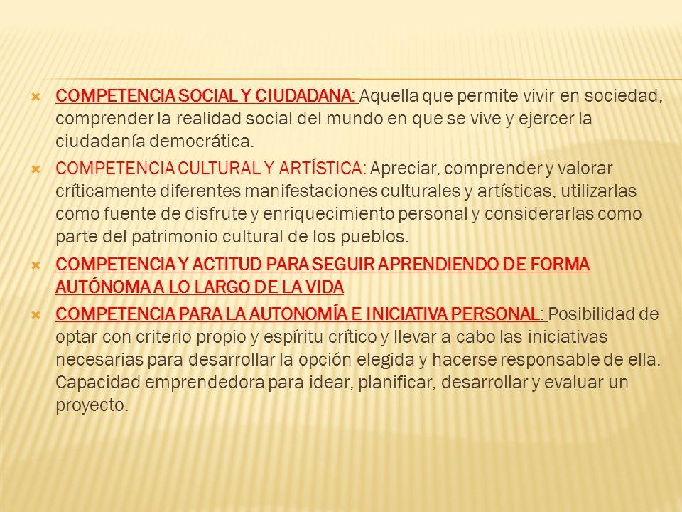 COMPETENCIA EN COMUNICACIÓN LINGÜÍSTICA: La utilización del lenguaje como instrumento de comunicación oral y escrita, tanto en lengua española como ex