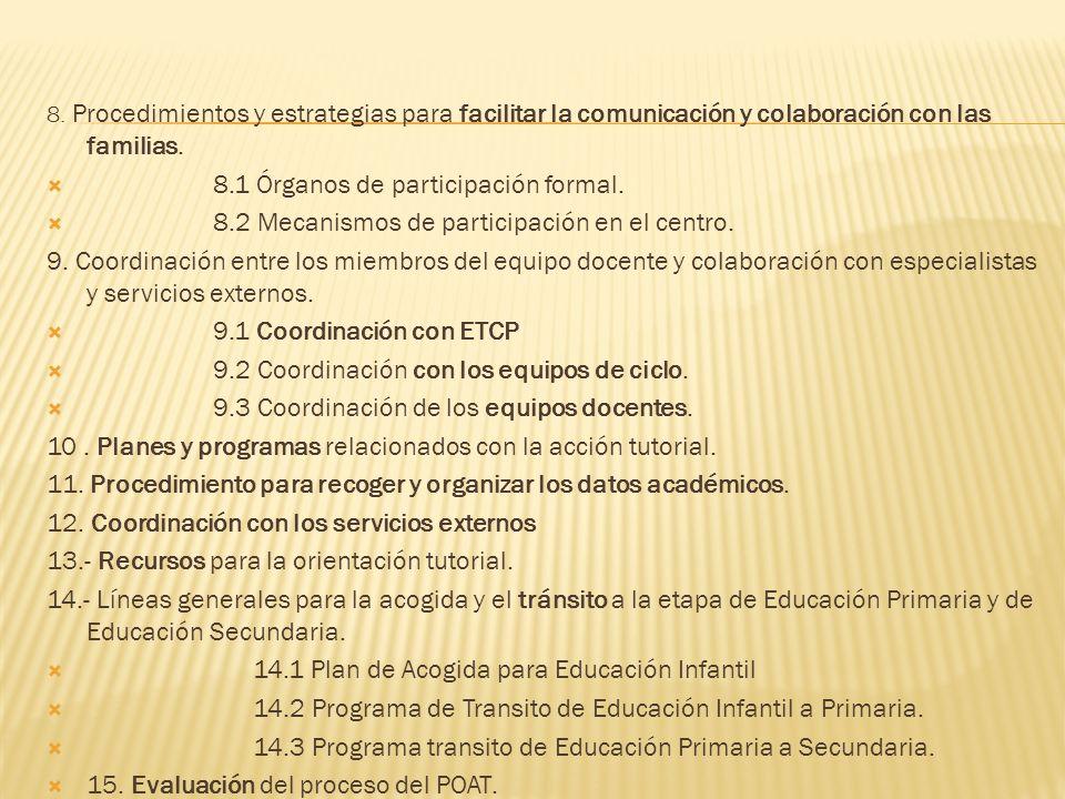 1.Introducción 2.Objetivos. 3.Programa de actividades tutoriales 3.1 Actividades tutoriales para Educación Infantil. 3.2 Actividades tutoriales para E