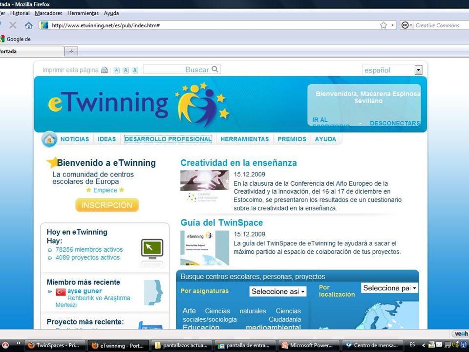 Intercambios escolares europeos a través del Portal eTwinning Macarena Espinosa Sevillano Una experiencia en un centro bilingüe: IES Ciudad de Hércules ¿Qué es eTwinning.