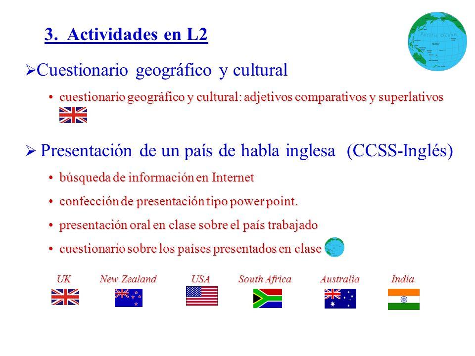 3. Actividades en L2 Cuestionario geográfico y cultural cuestionario geográfico y cultural: adjetivos comparativos y superlativos cuestionario geográf