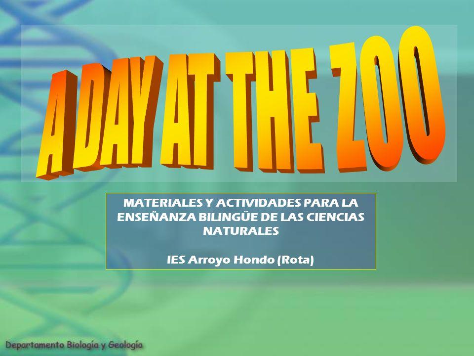 MATERIALES Y ACTIVIDADES PARA LA ENSEÑANZA BILINGÜE DE LAS CIENCIAS NATURALES IES Arroyo Hondo (Rota)