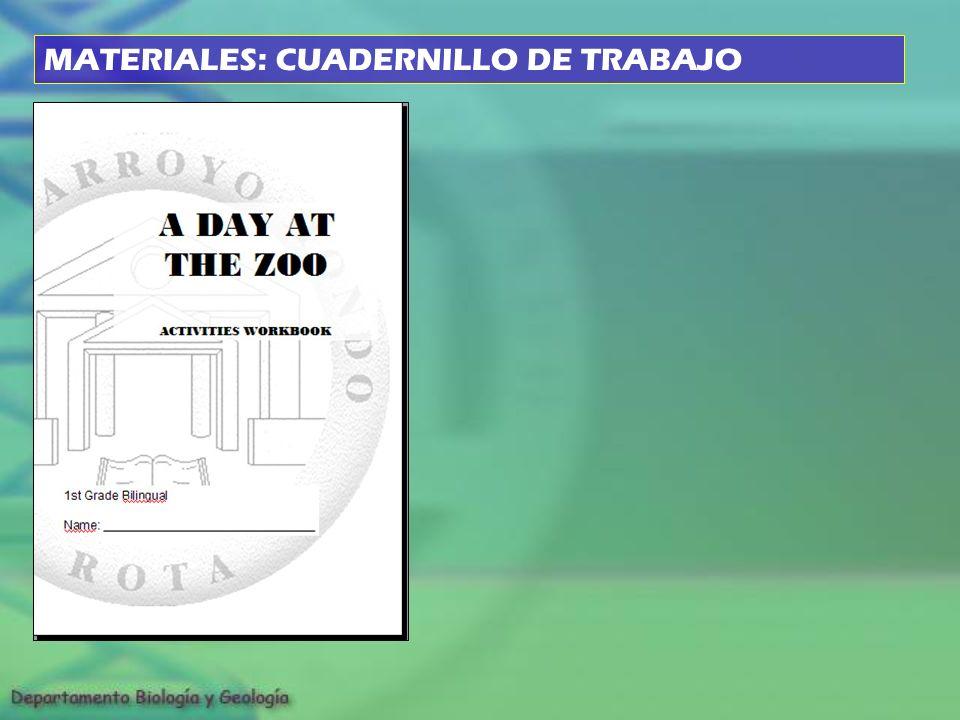 MATERIALES: CUADERNILLO DE TRABAJO