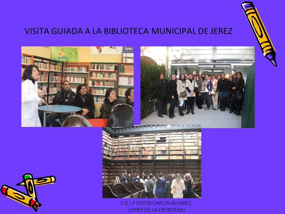 VISITA GUIADA A LA BIBLIOTECA MUNICIPAL DE JEREZ C.E.I.P POETA CARLOS ÁLVAREZ (JEREZ DE LA FRONTERA)