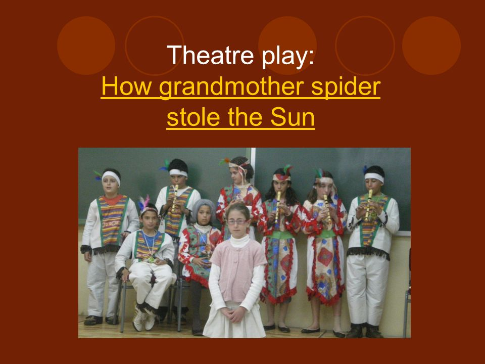 Theatre play: How grandmother spider stole the Sun