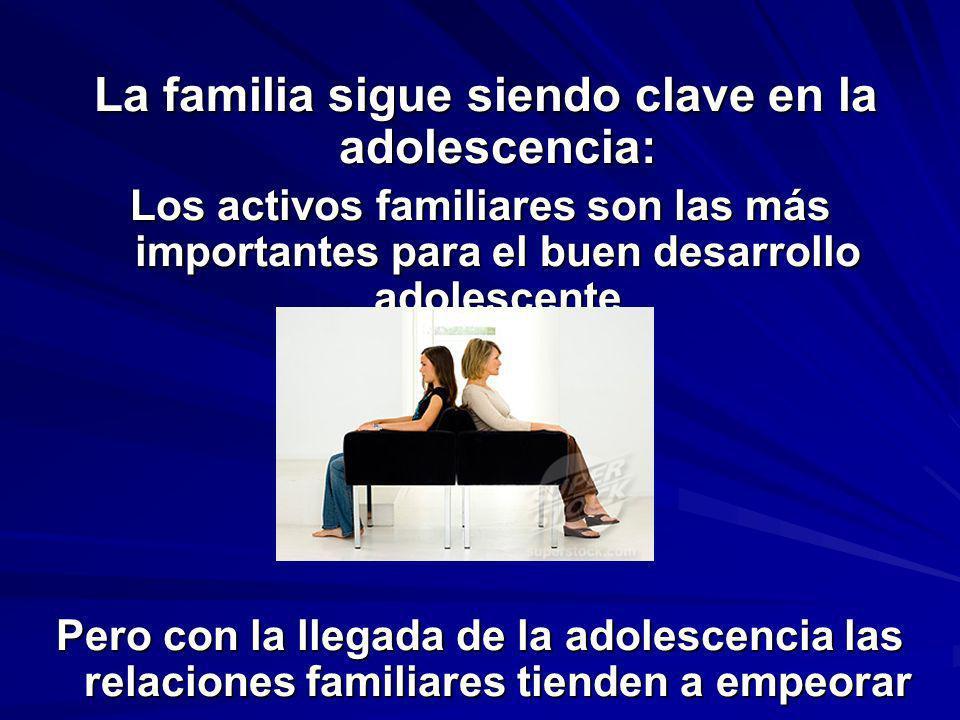 La familia sigue siendo clave en la adolescencia: La familia sigue siendo clave en la adolescencia: Los activos familiares son las más importantes par