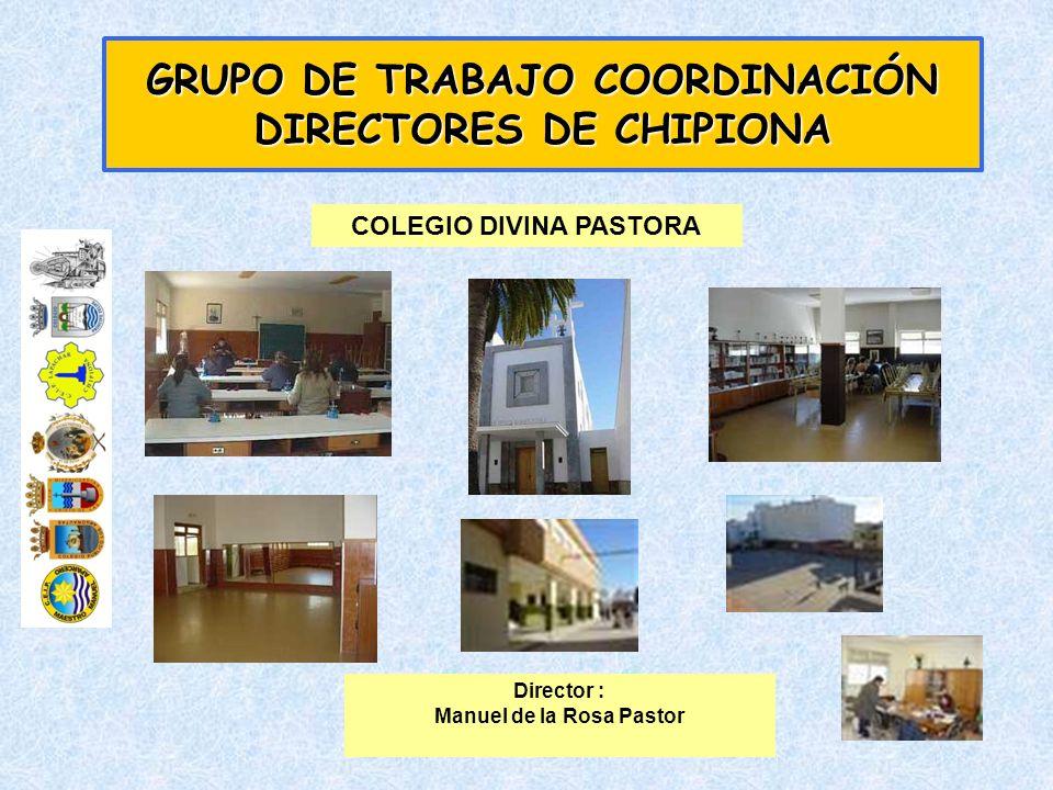 GRUPO DE TRABAJO COORDINACIÓN DIRECTORES DE CHIPIONA ACTIVIDADES ESPACIO DE PAZ – EDUCACION VIAL