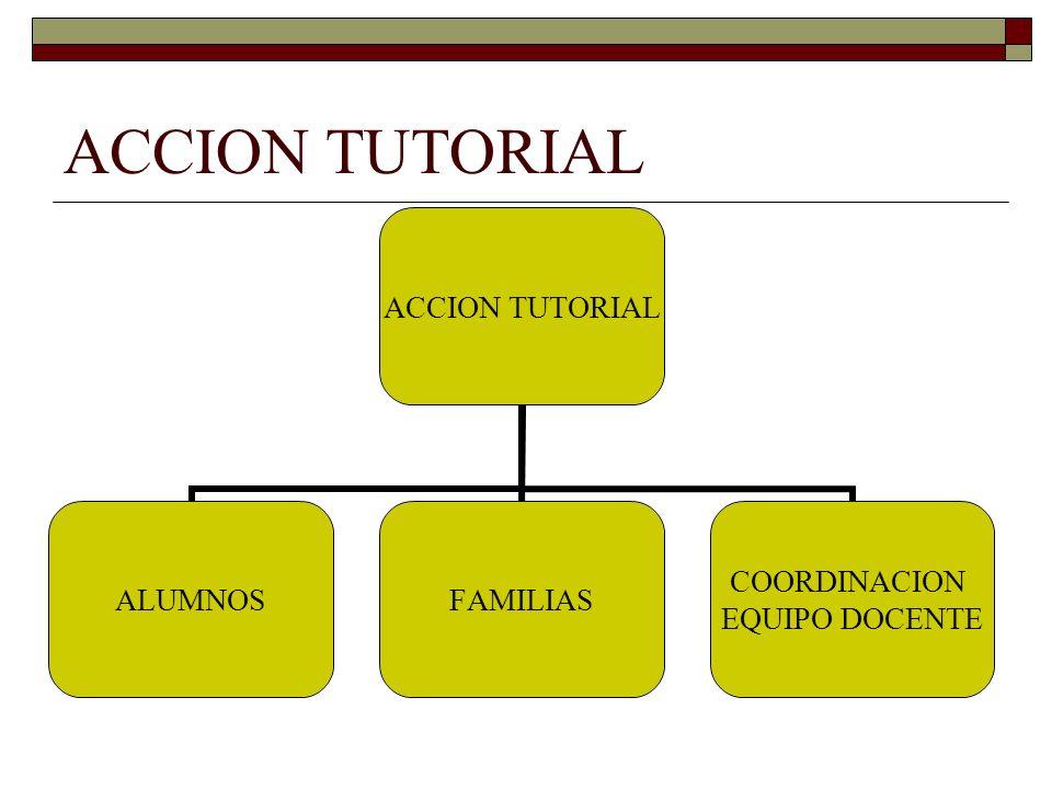 ACCION TUTORIAL ALUMNOSFAMILIAS COORDINACION EQUIPO DOCENTE