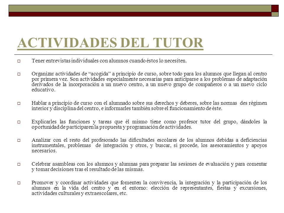 TUTORIA INDIVIDUAL FINAL Tutoría individual-orientativa de la toma de decisiones personales, académicas y profesionales a final de curso.