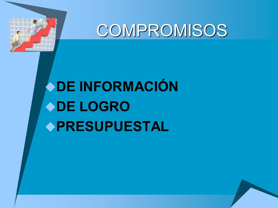 COMPROMISOS DE INFORMACIÓN DE LOGRO PRESUPUESTAL