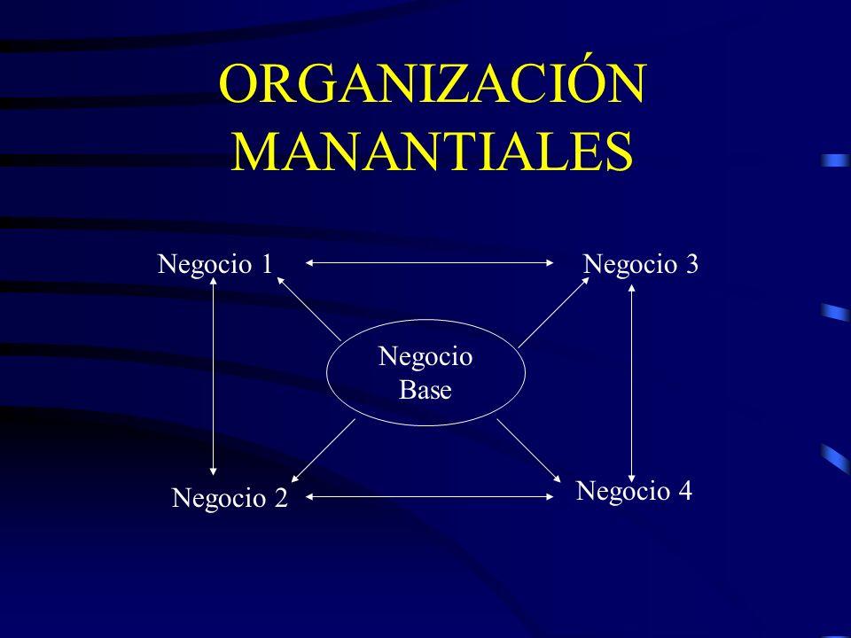 ORGANIZACIÓN MANANTIALES Negocio Base Negocio 1 Negocio 2 Negocio 3 Negocio 4