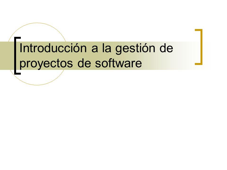 Introducción a la gestión de proyectos de software