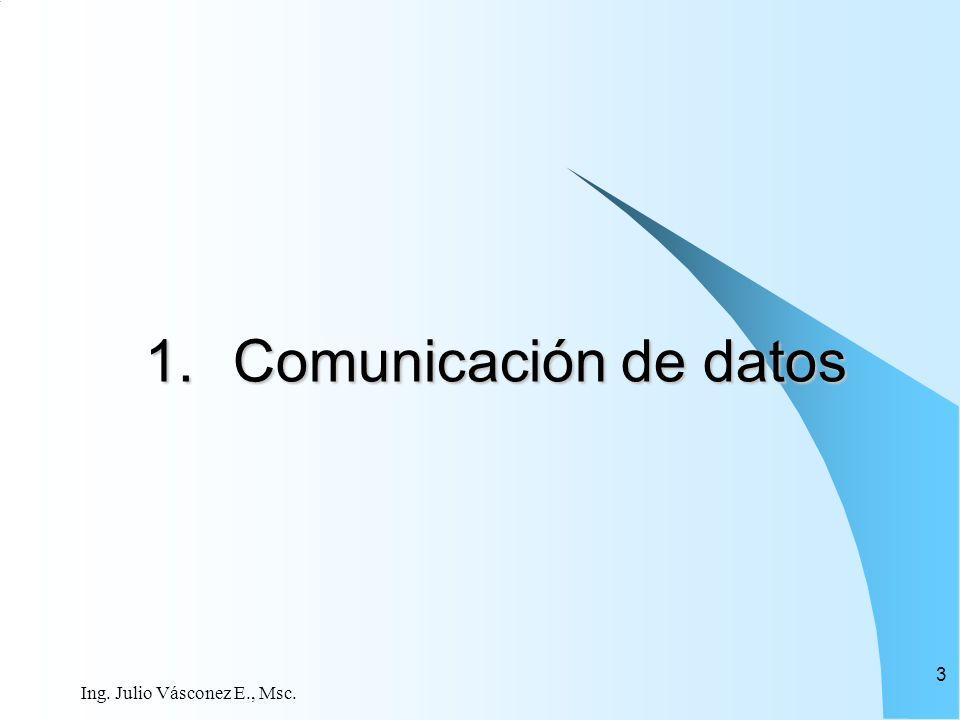 Ing. Julio Vásconez E., Msc. 3 1.Comunicación de datos