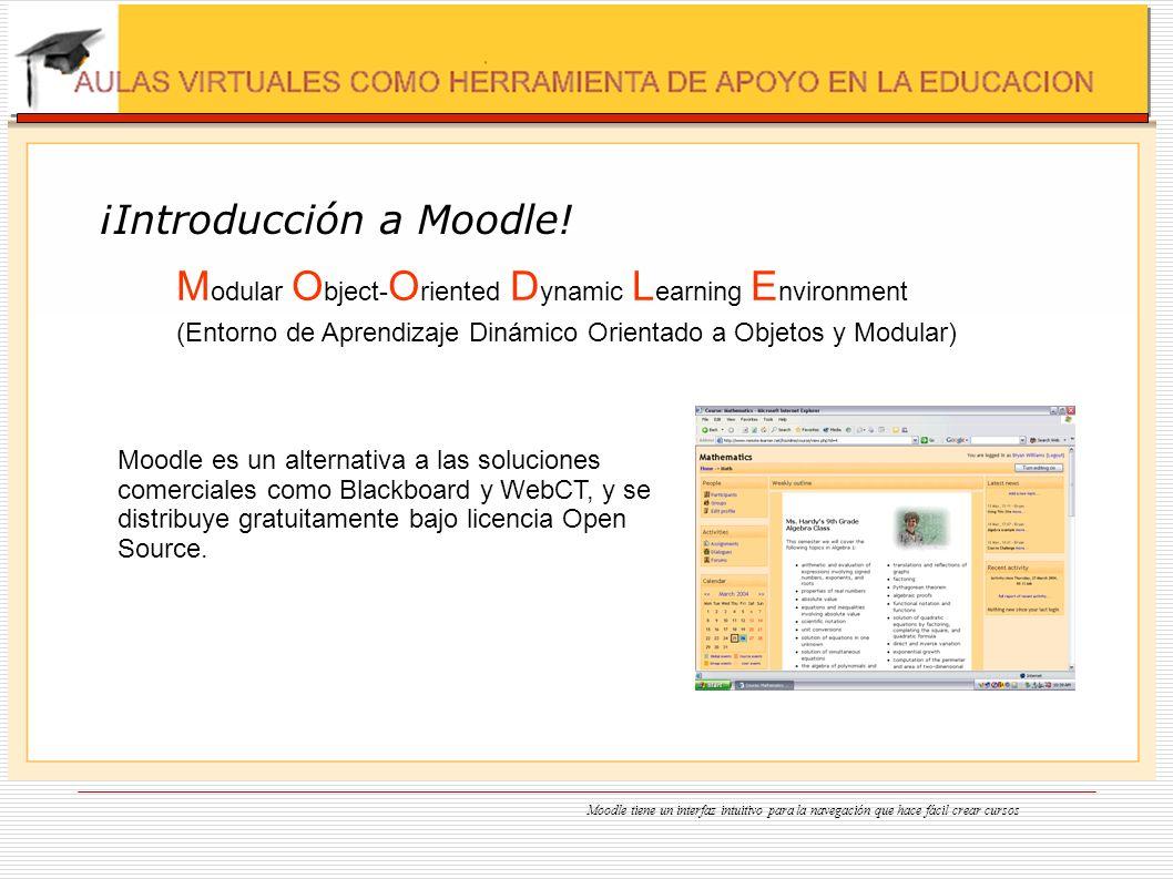 ¡Introducción a Moodle! M odular O bject- O riented D ynamic L earning E nvironment (Entorno de Aprendizaje Dinámico Orientado a Objetos y Modular) Mo