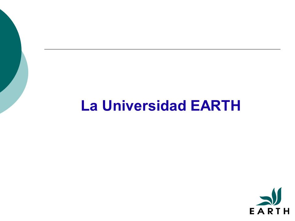 La Universidad EARTH