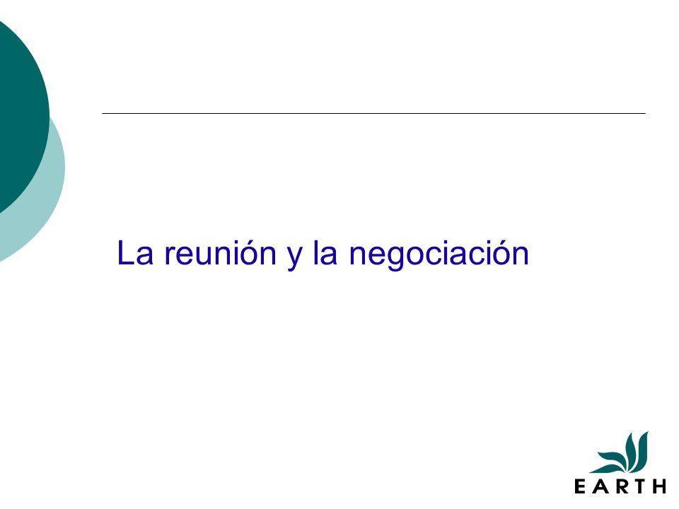 La reunión y la negociación
