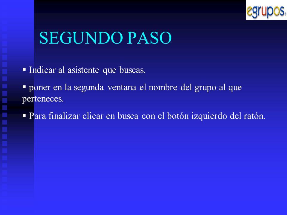 TERCER PASO En la siguiente página clicar en el nombre del grupo X.