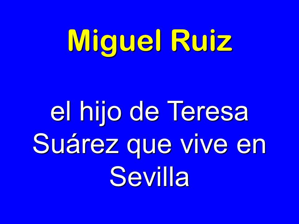 Miguel Ruiz el hijo de Teresa Suárez que vive en Sevilla