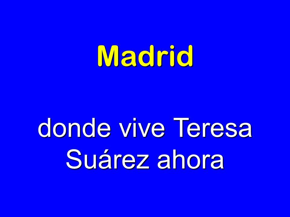 Madrid donde vive Teresa Suárez ahora