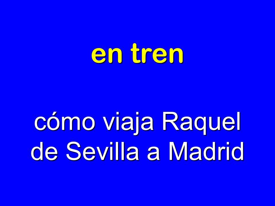 en tren cómo viaja Raquel de Sevilla a Madrid