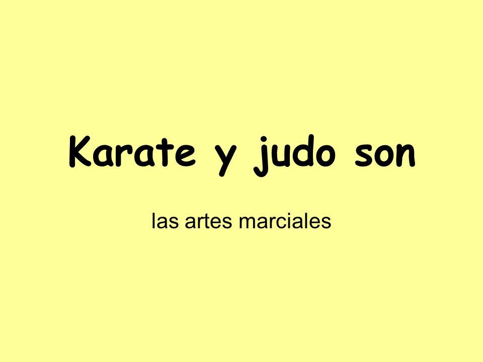 Karate y judo son las artes marciales