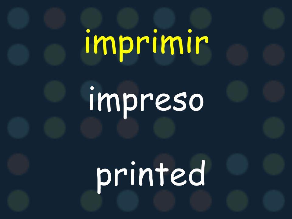 imprimir impreso printed