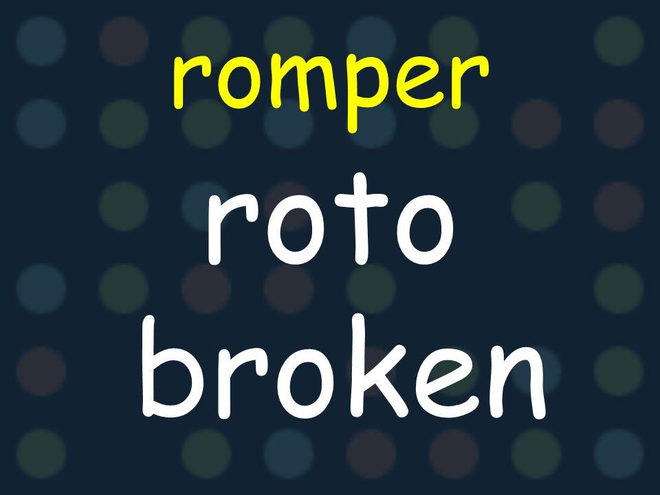 romper roto broken