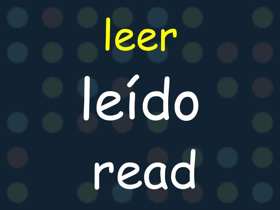 leer leído read